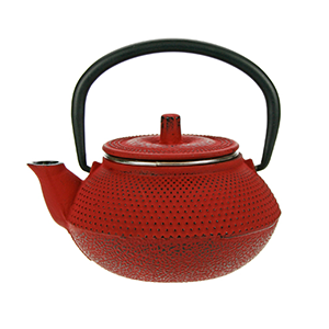 Kobe red theepot 0.3L gietijzer filter TSP68
