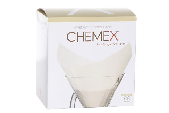 Chemex filters wit vierkant voorgevouwen 6-8-10-kops-100 stuks